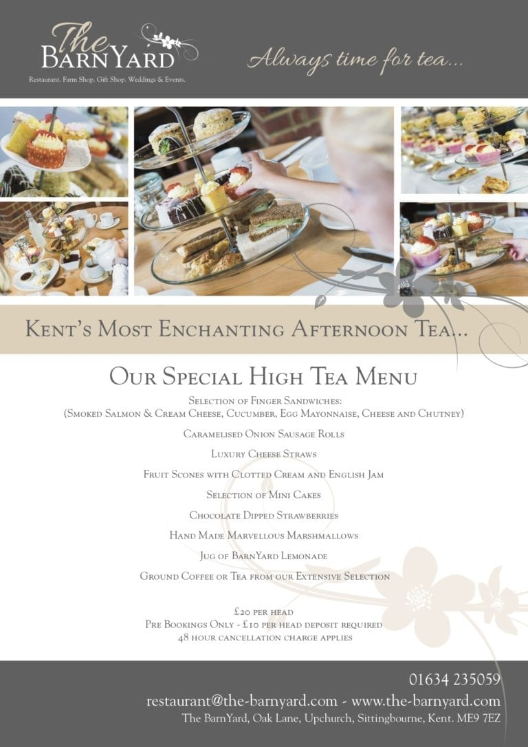 Special High Tea Menu 2018